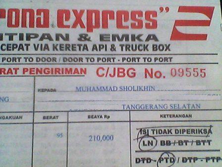 Resi Pengiriman PT. Herona Express
